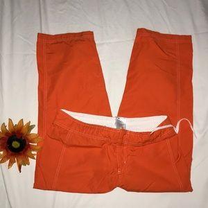 Nike Orange athletic Drfit  Capri pants
